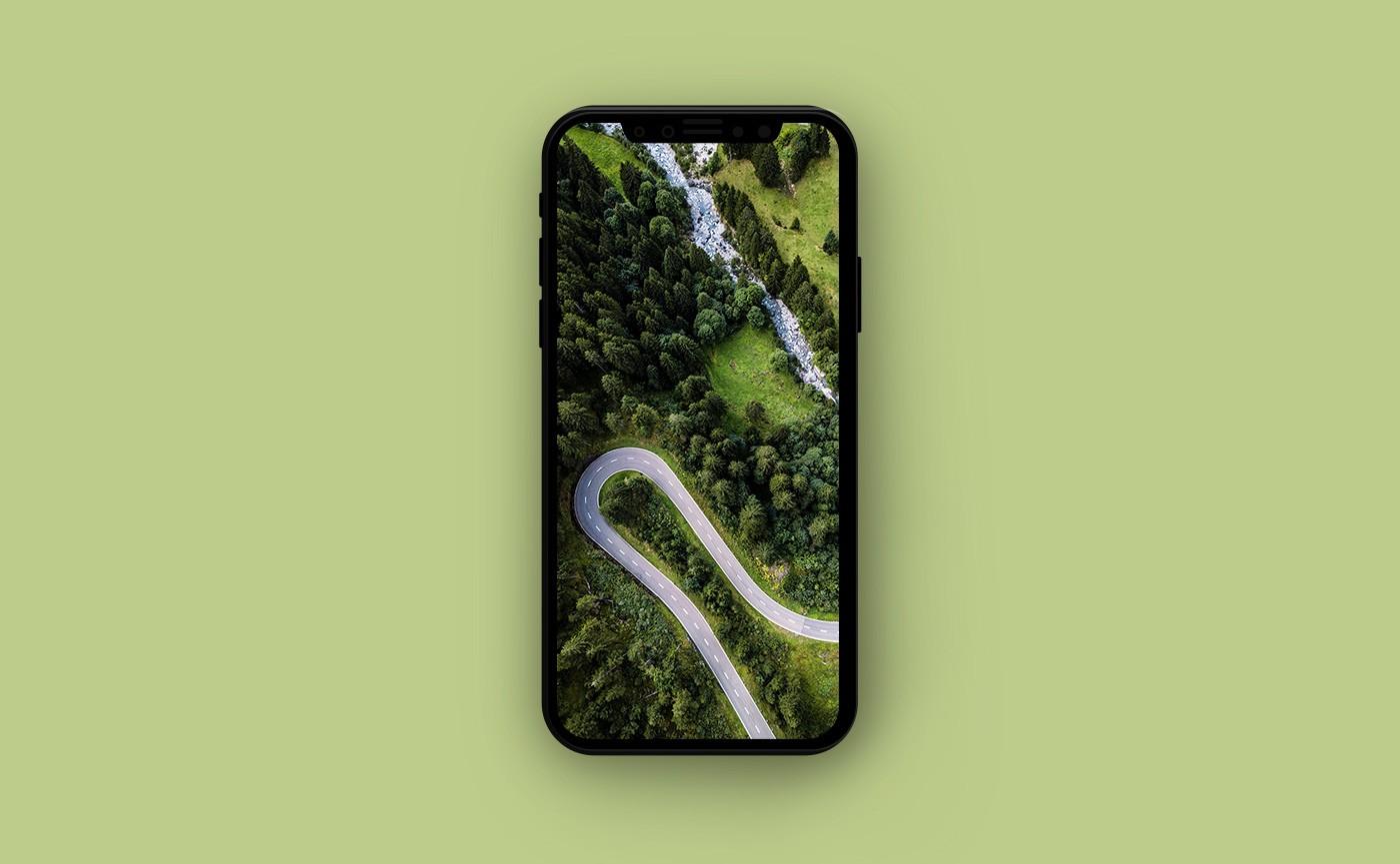 Летние обои для iPhone - дорога