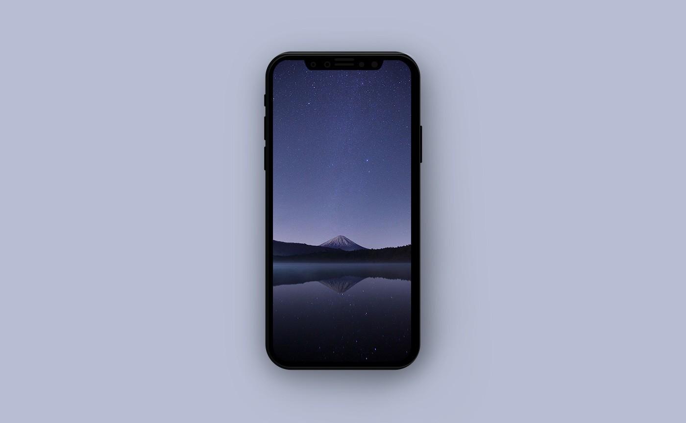 Летние обои для iPhone - ночная гора