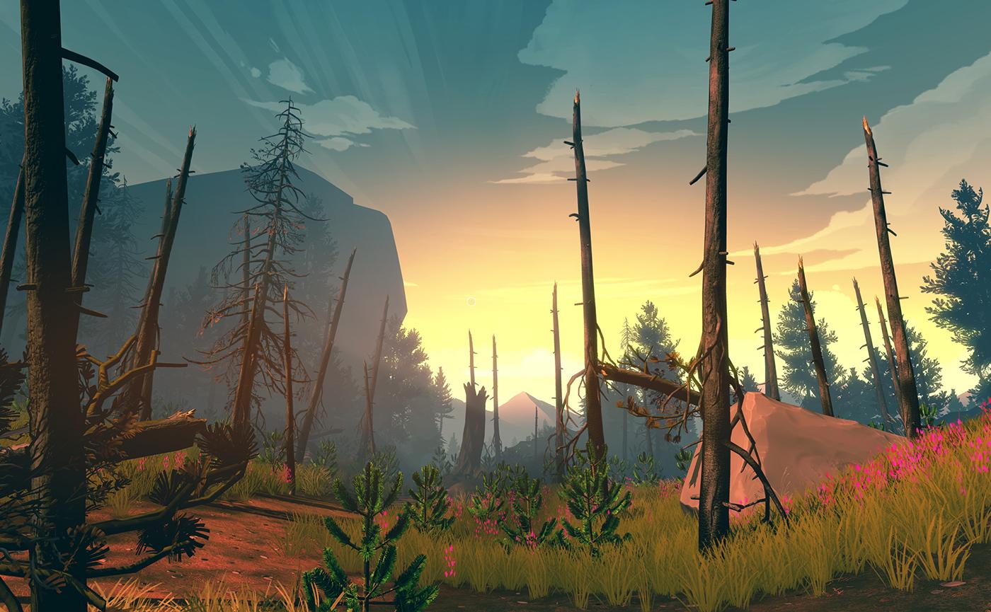 Firewatch виртуальный туризм по лесу