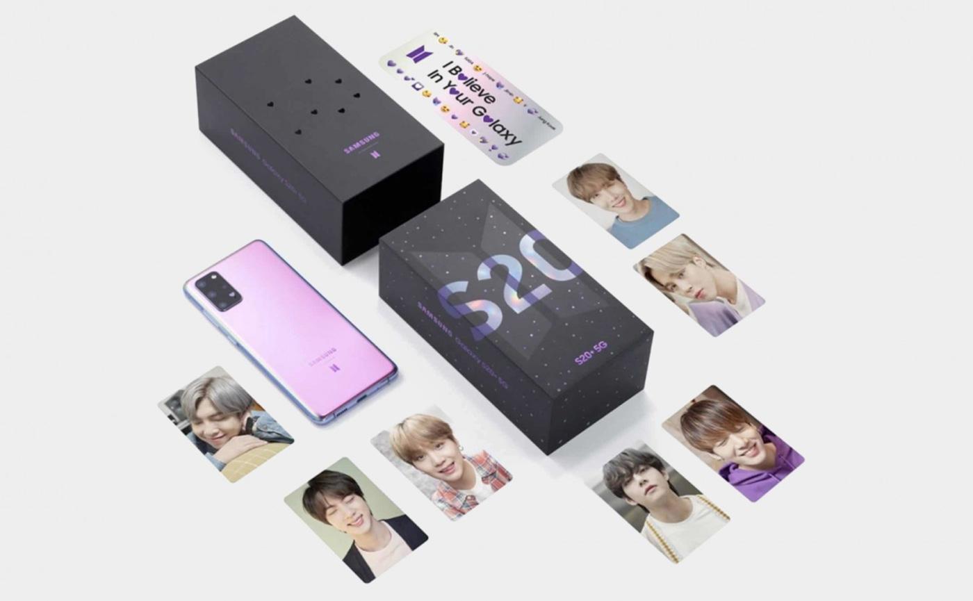 комплект смартфон и наушники BTS Edition