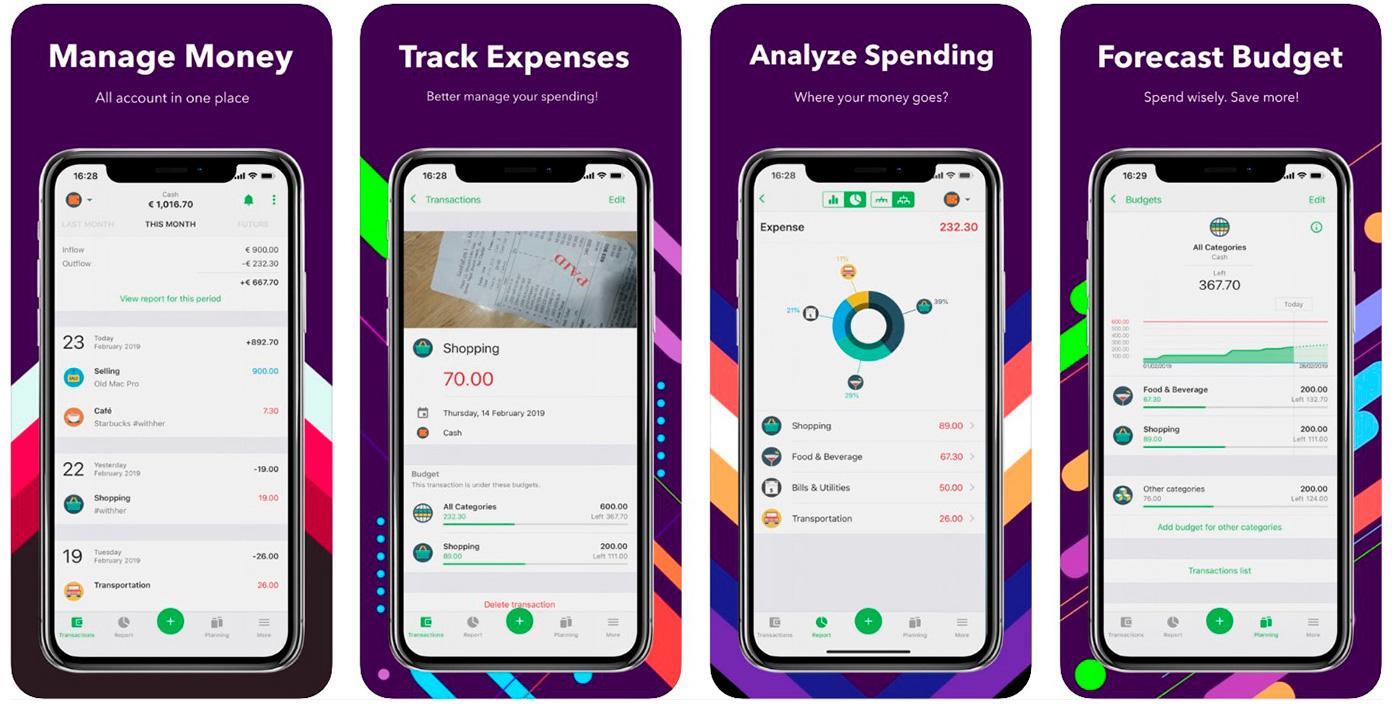 Скриншоты приложения Money Lover