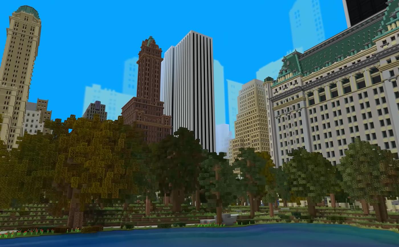 Нью-Йорк в Minecraft