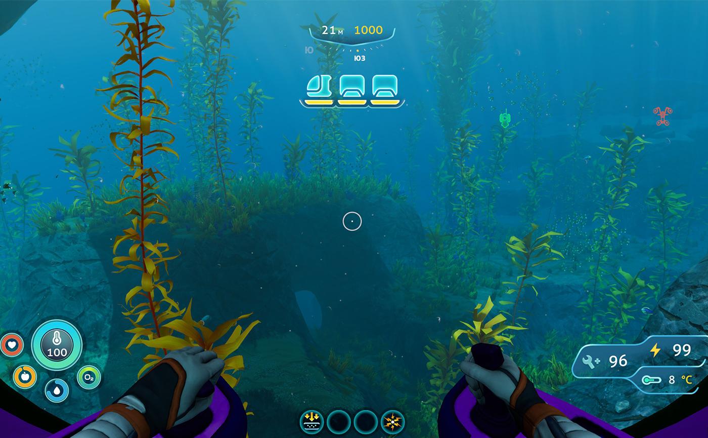 подводный мир видеоигры