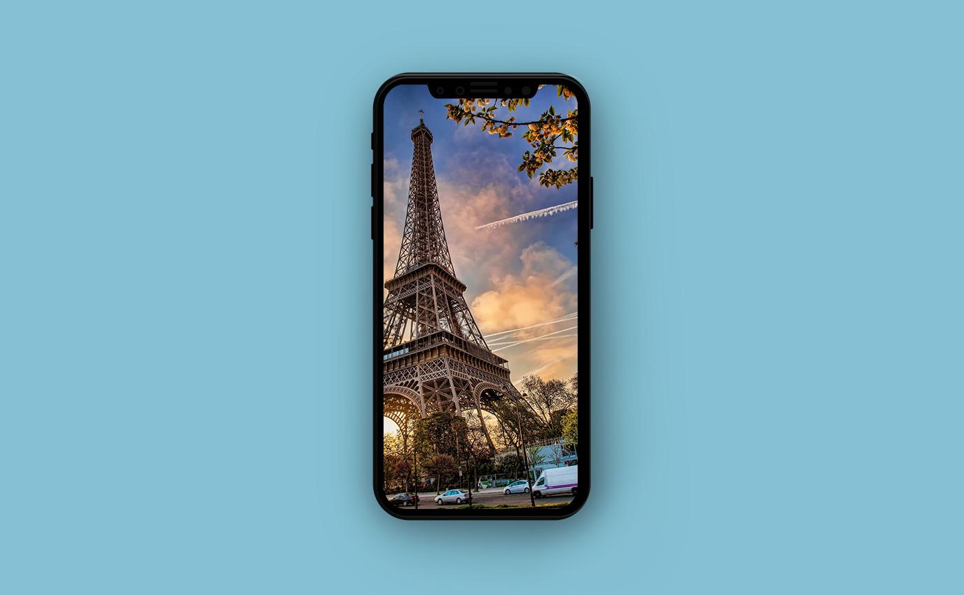 Французские обои для iPhone - Эйфелева Башня
