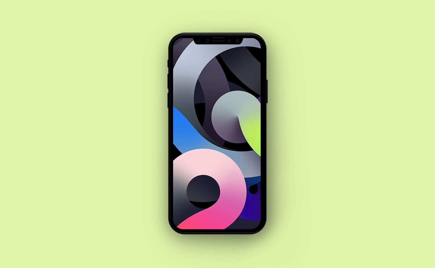 Обои для iPhone в стиле Apple - абстракция