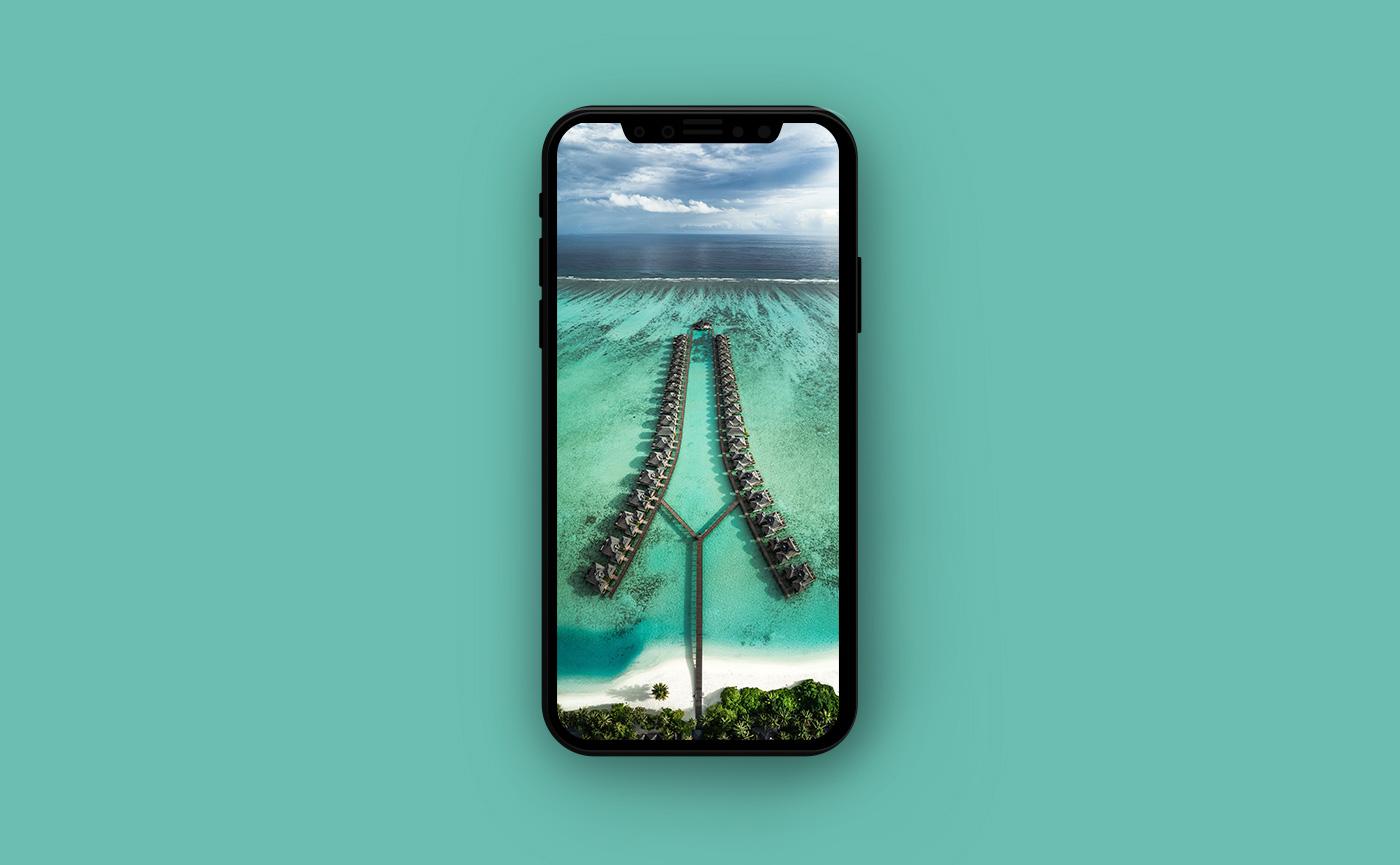 Обои для iPhone Мальдивы - остров