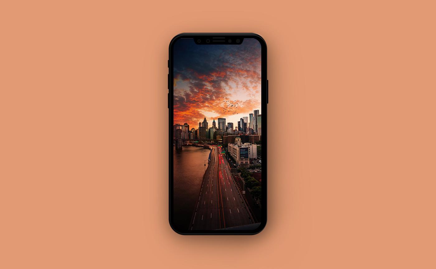 Обои для iPhone в оранжевых тонах - Америка