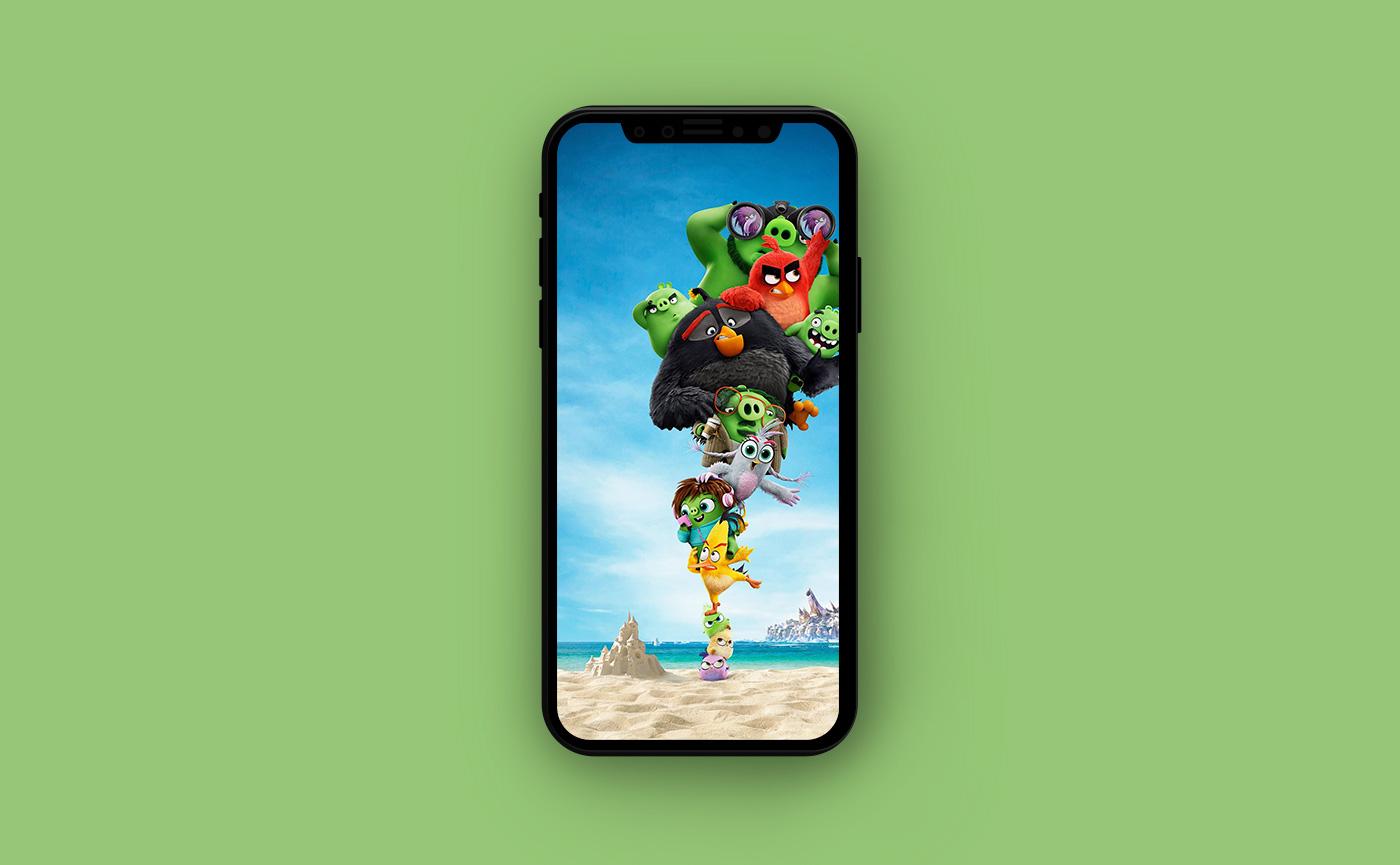 Яркие обои для iPhone - Angry Birds