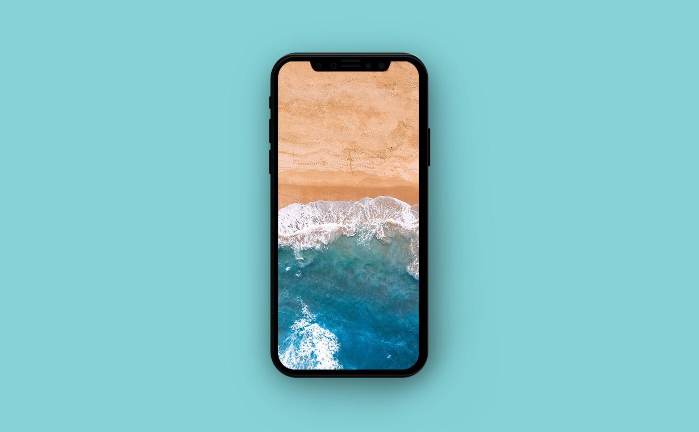 Морские обои для iPhone - берег океана
