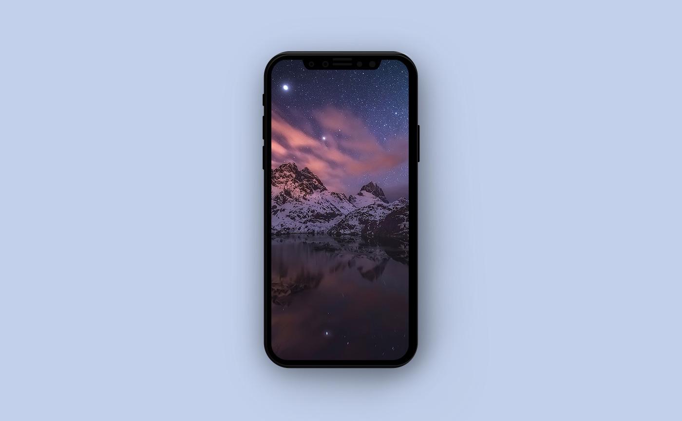 Горные обои для iPhone - озеро в горах
