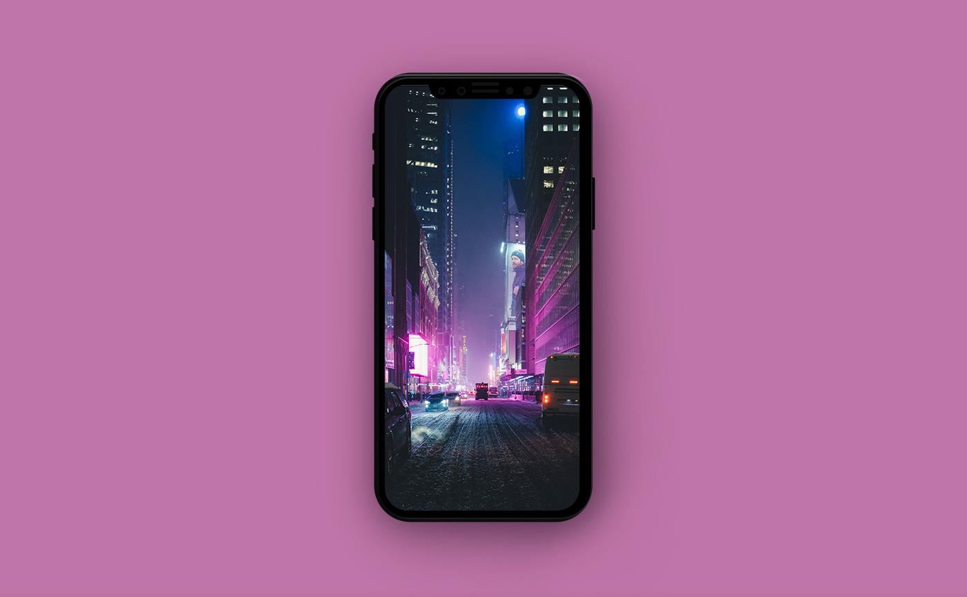 Городские обои для iPhone - городская улица