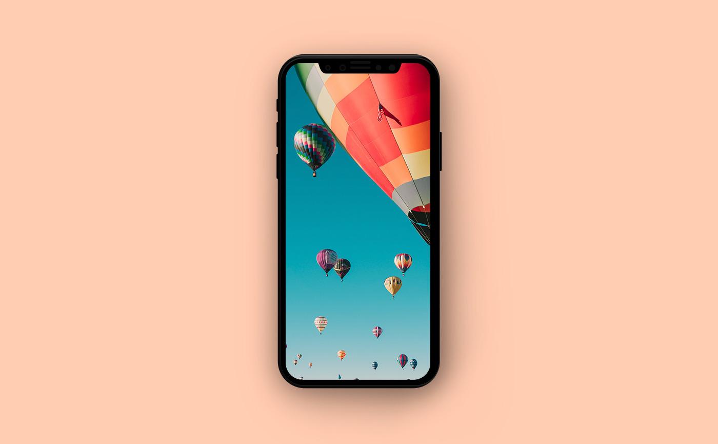 Туристические обои для iPhone - полёт на воздушном шаре