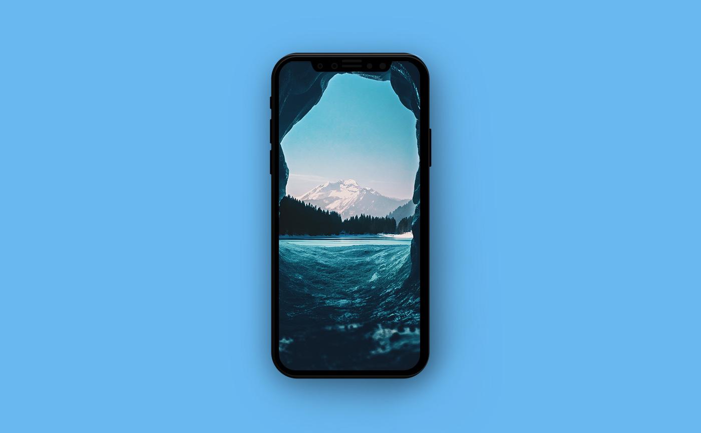 Французские обои для iPhone - горы Франции