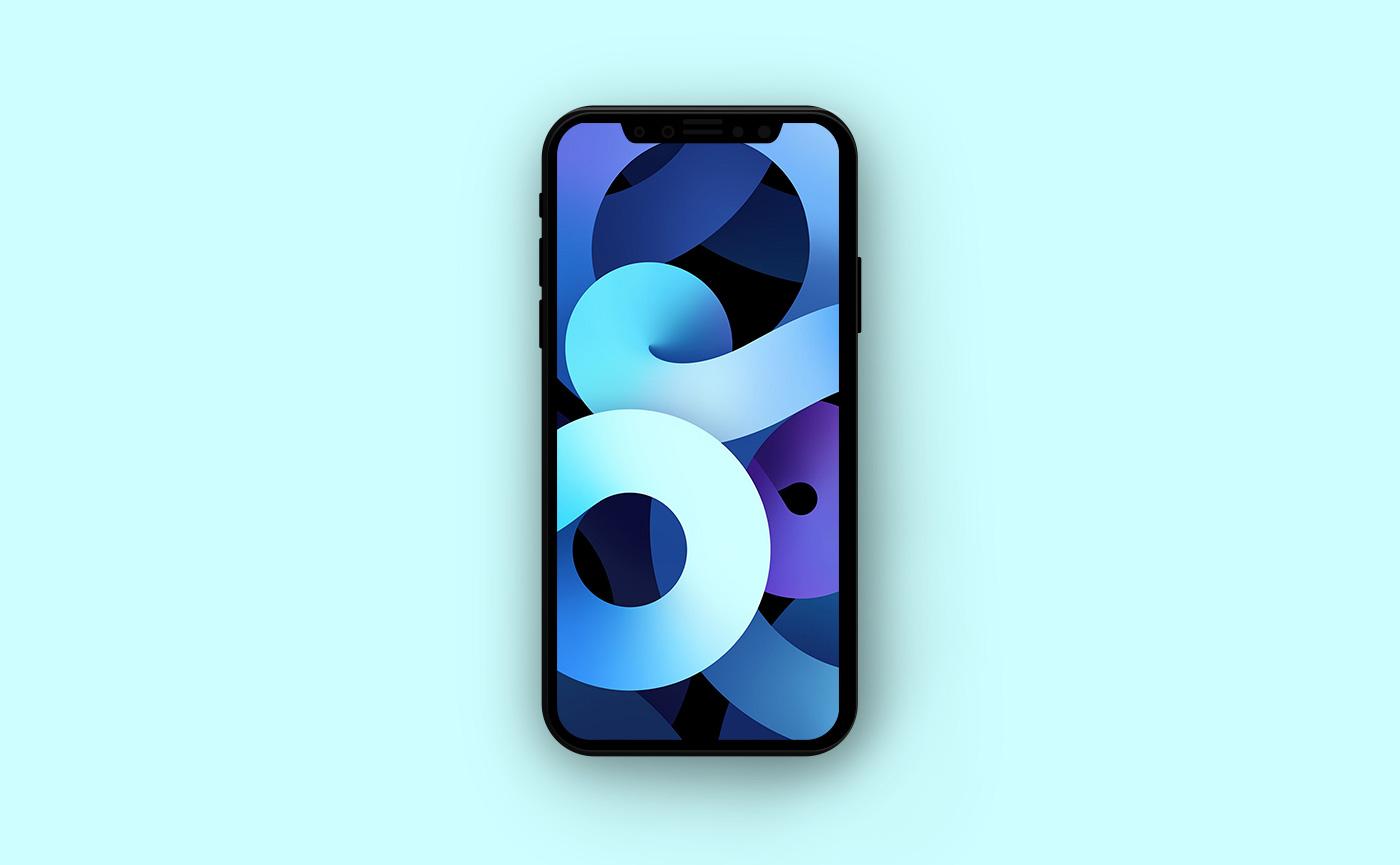 Обои для iPhone в стиле Apple - голубые полосы