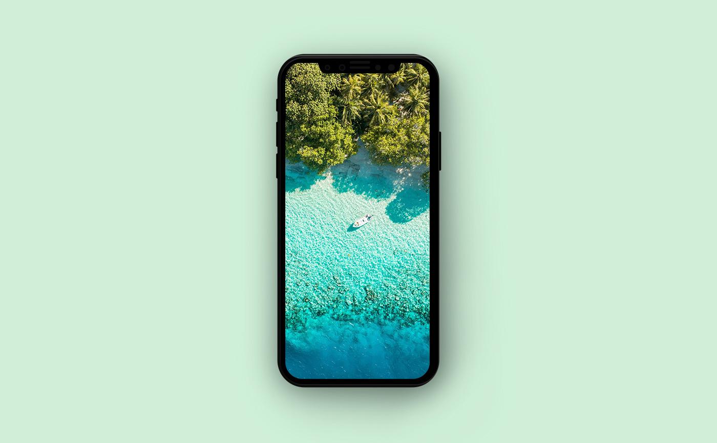 Обои для iPhone Мальдивы - побережье