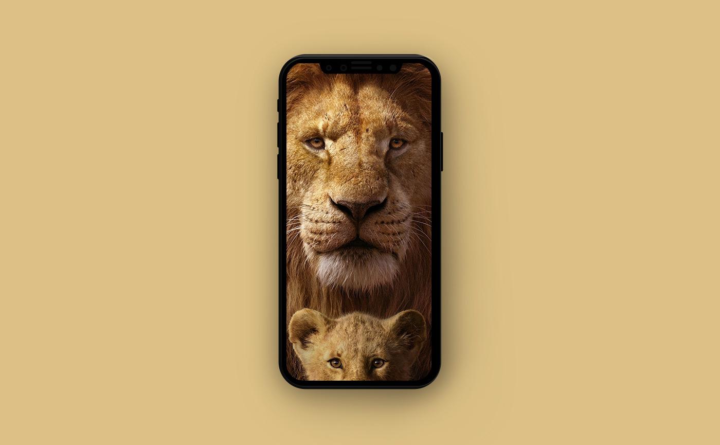 Яркие обои для iPhone - Король лев