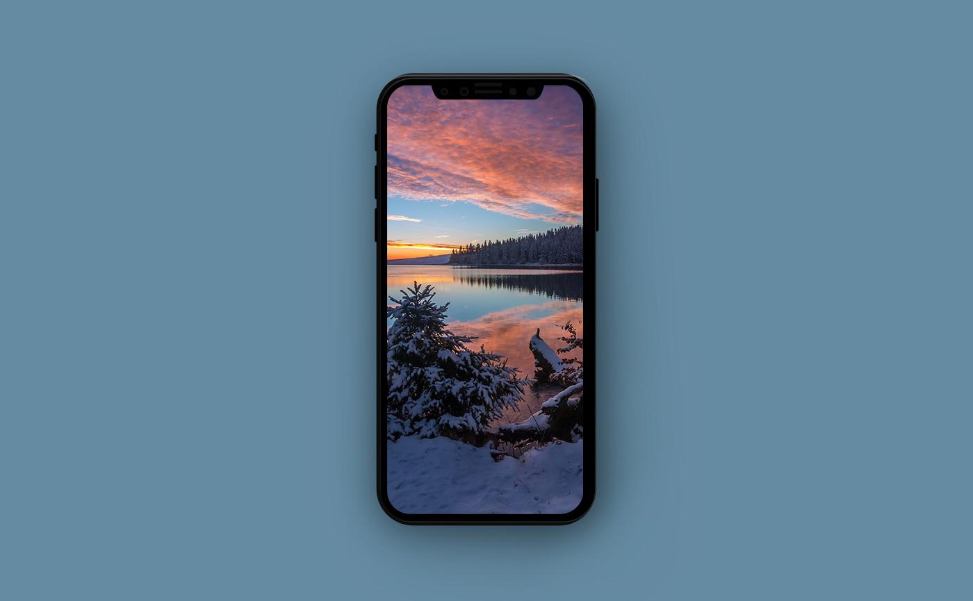 Обои для iPhone - озеро в горах