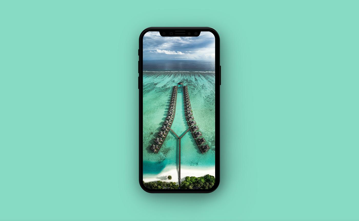 Обои на iPhone - Мальдивы