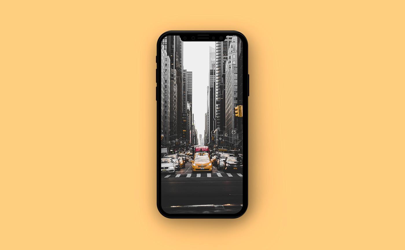 Летние обои для iPhone - такси в Нью-Йорке