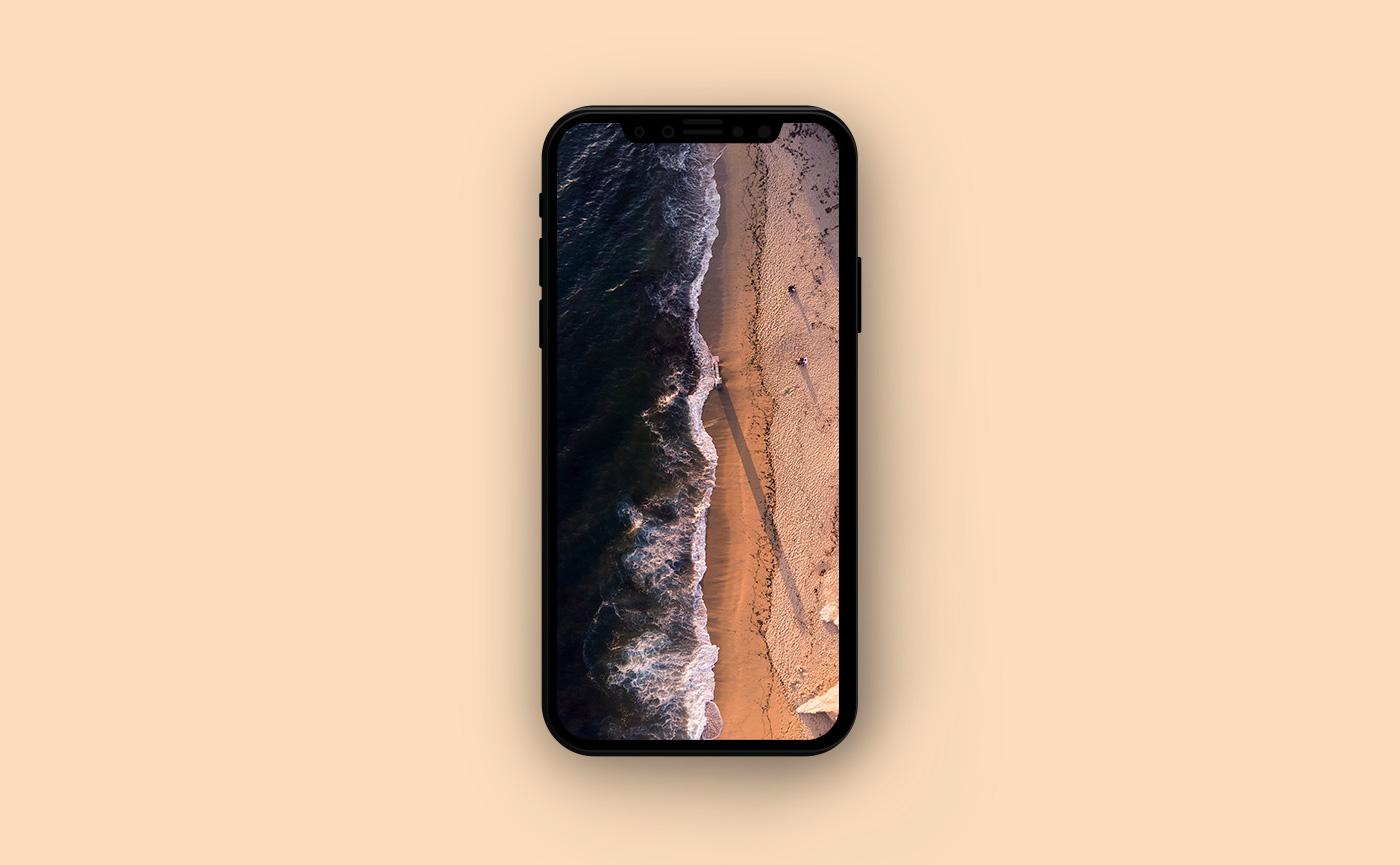 Морские обои для iPhone - пляж