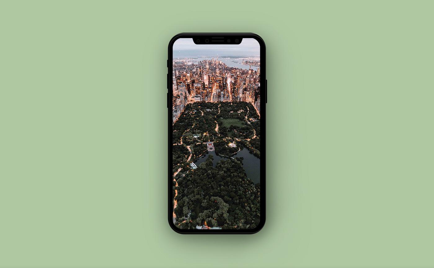 Городские обои для iPhone - центральный парк Нью-Йорка