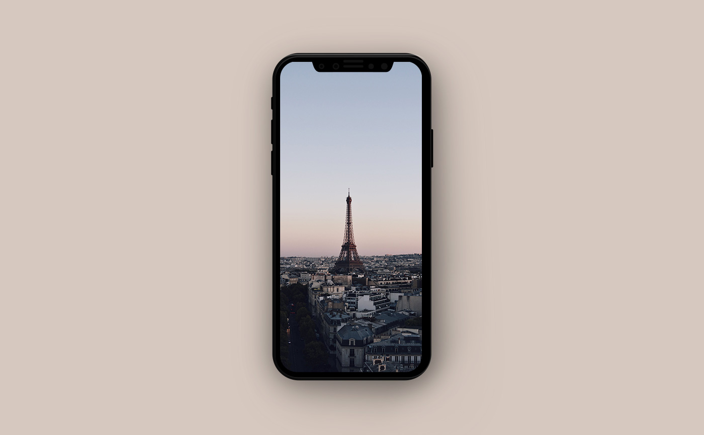 Французские обои для iPhone - вид на Париж