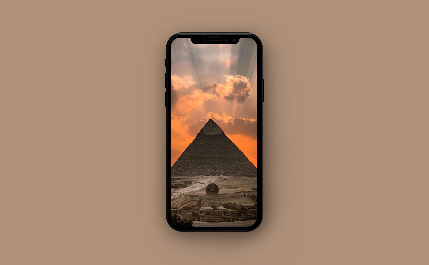 Обои для iPhone в оранжевых тонах - Египет