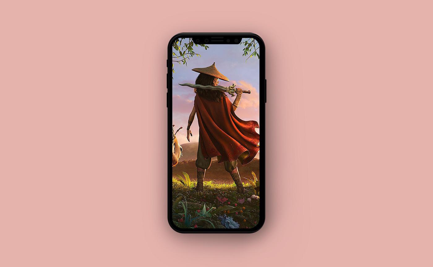 Яркие обои для iPhone - Райя и последний дракон