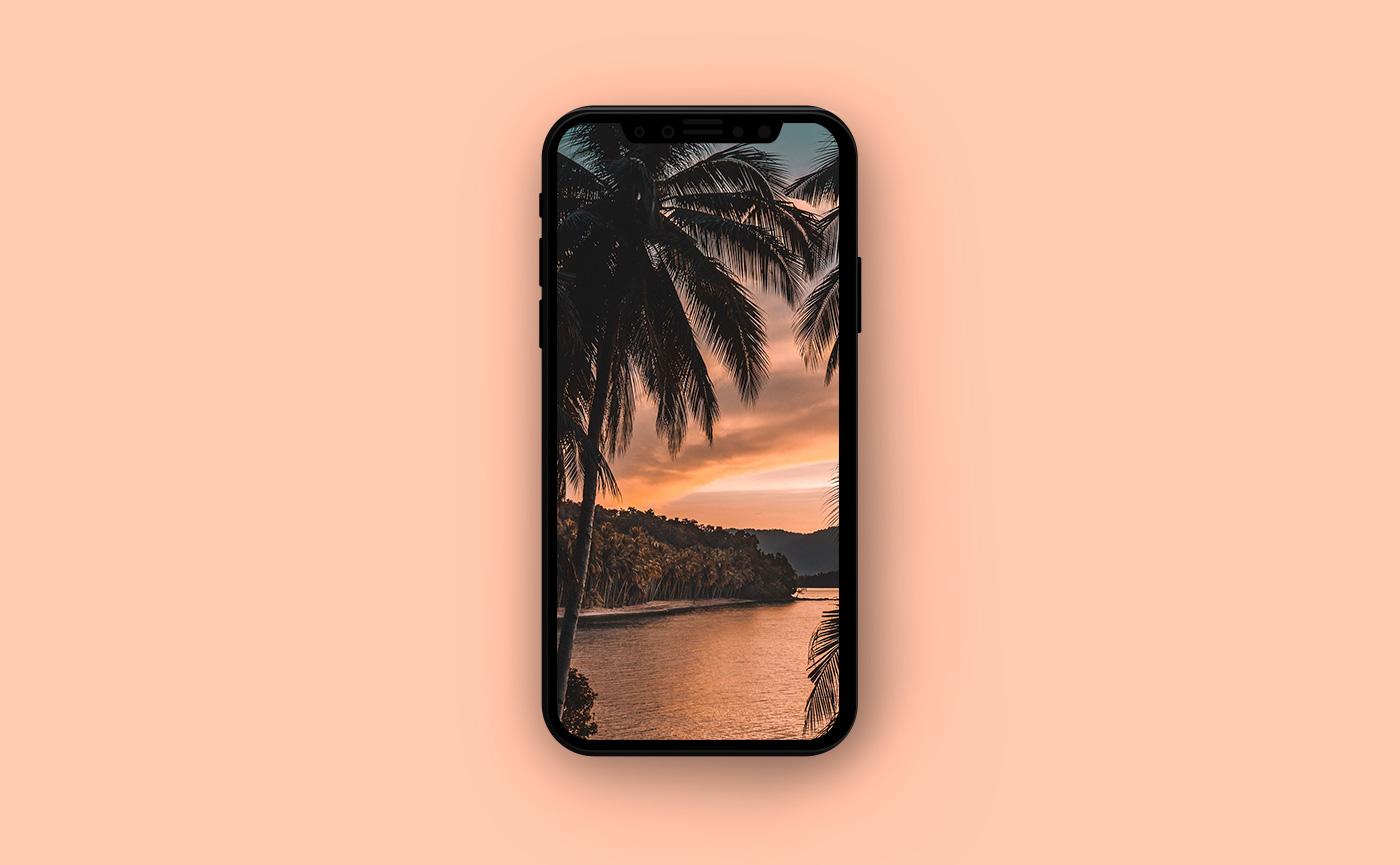 Обои на iPhone - яркий закат