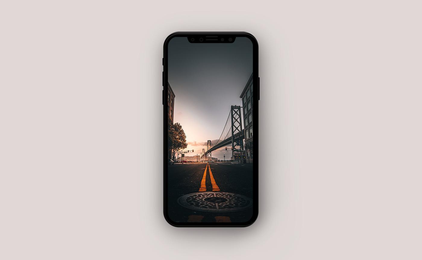 Летние обои для iPhone - дорога в Сан-Франциско
