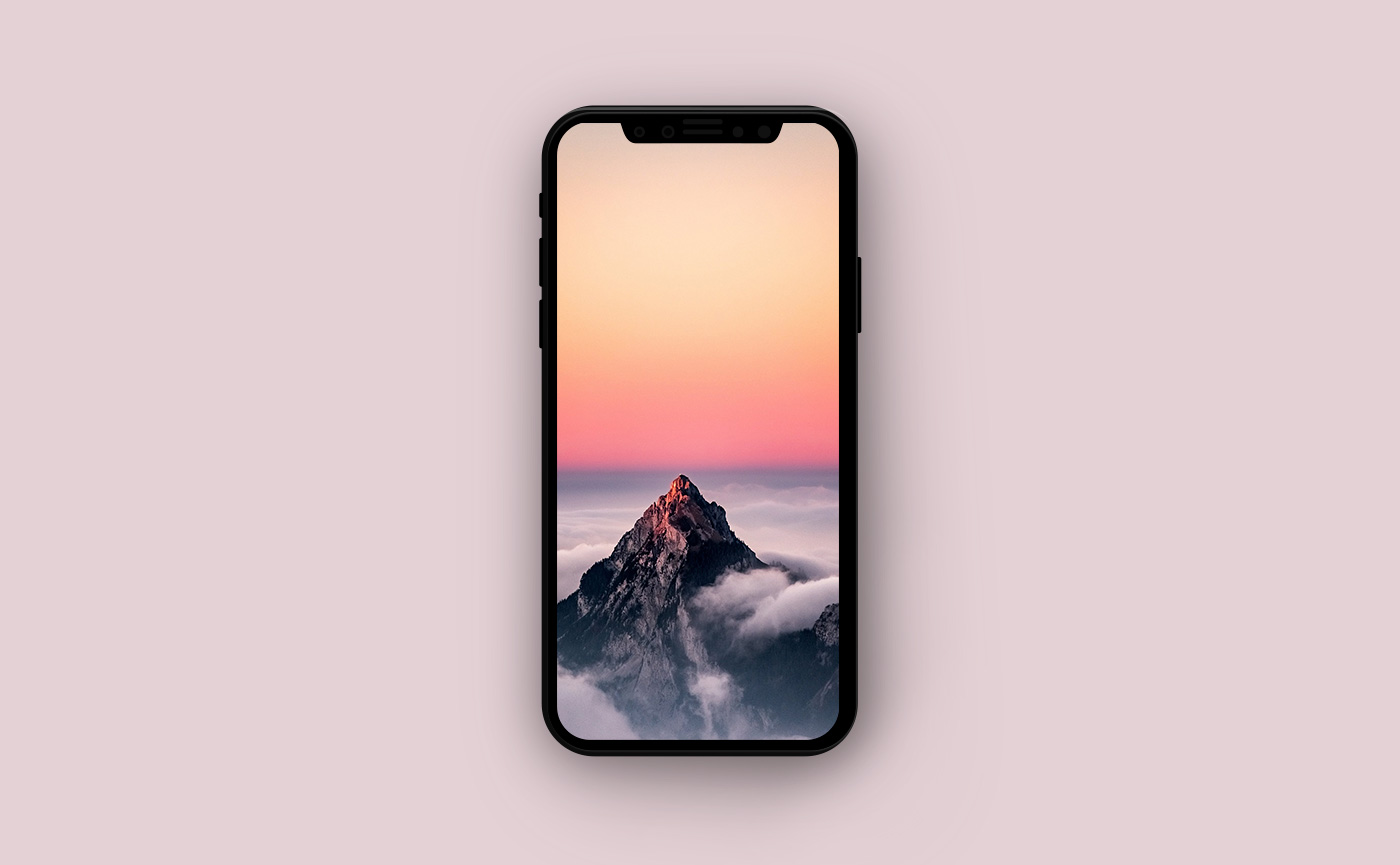 Горные обои для iPhone - горная вершина