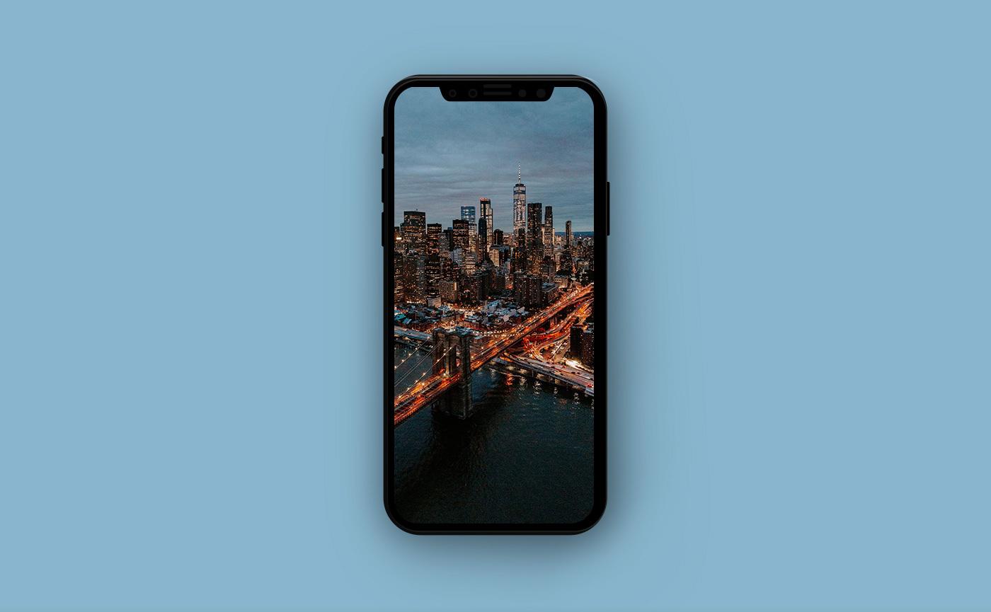Городские обои для iPhone - Бруклинский мост