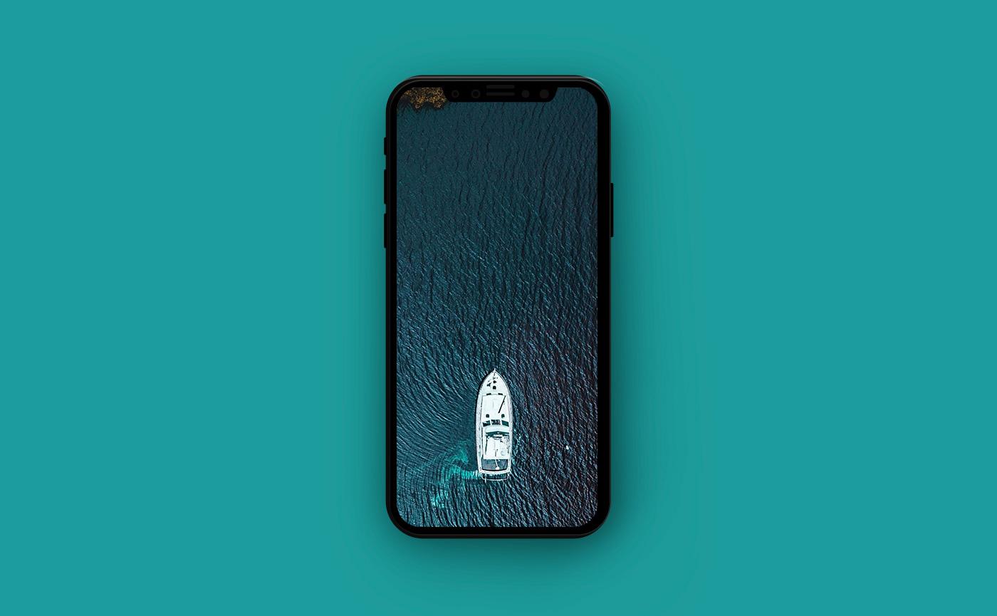 Французские обои для iPhone - Лазурный берег