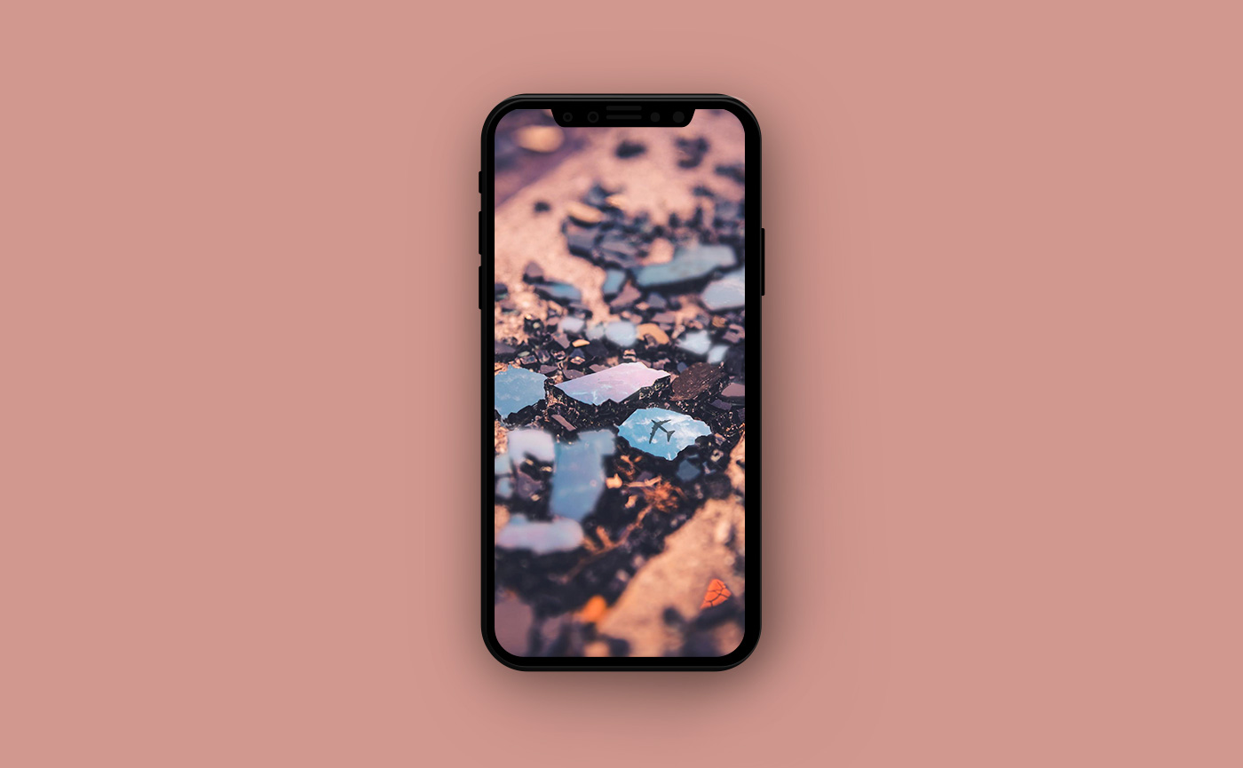 Обои для iPhone в оранжевых тонах - камни