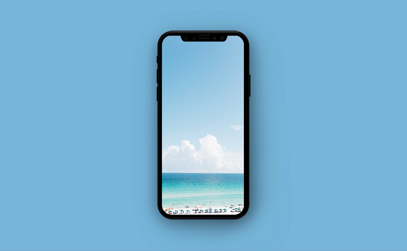 Обои на iPhone - пляж на берегу океана
