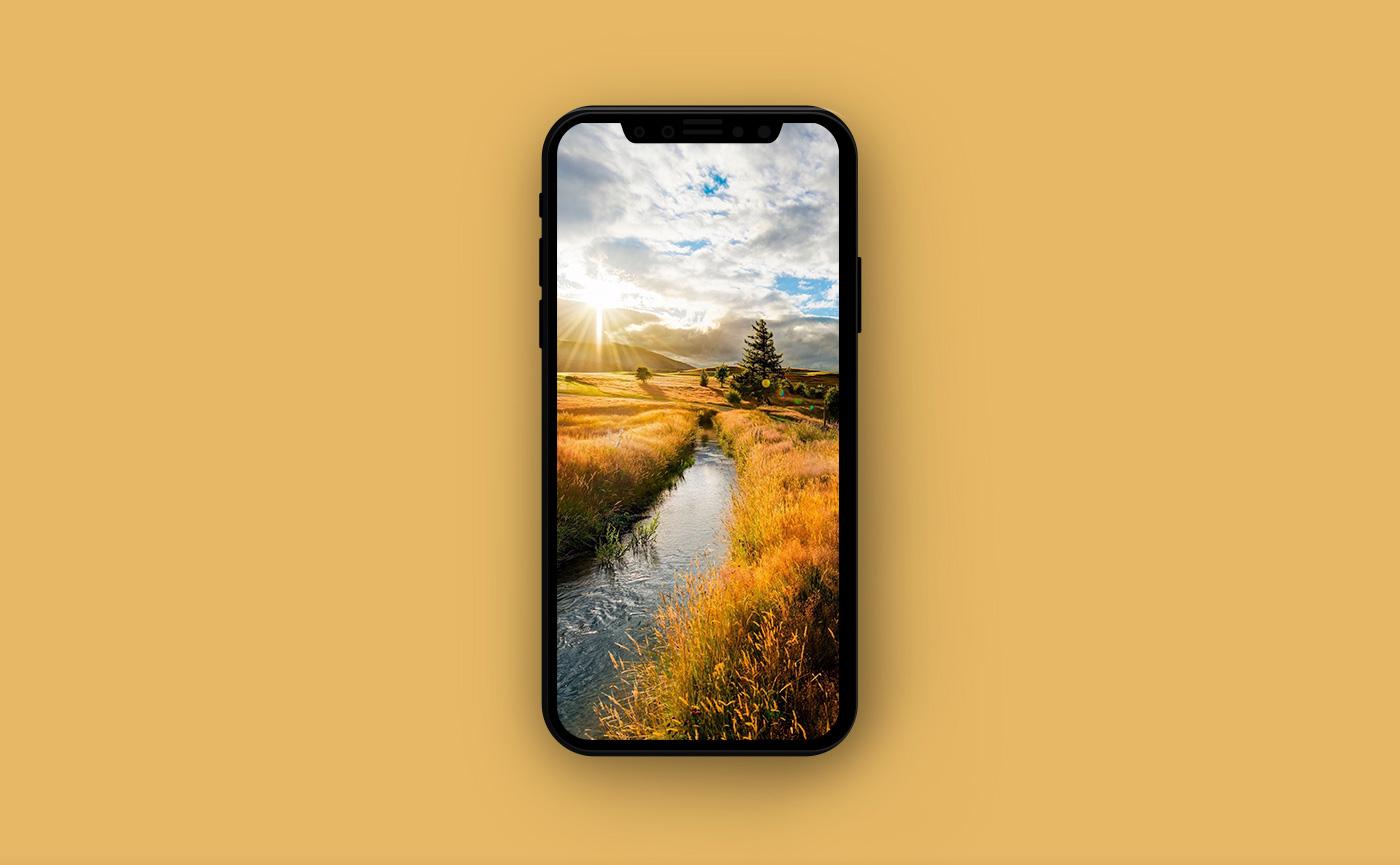 Обои на iPhone - деревня