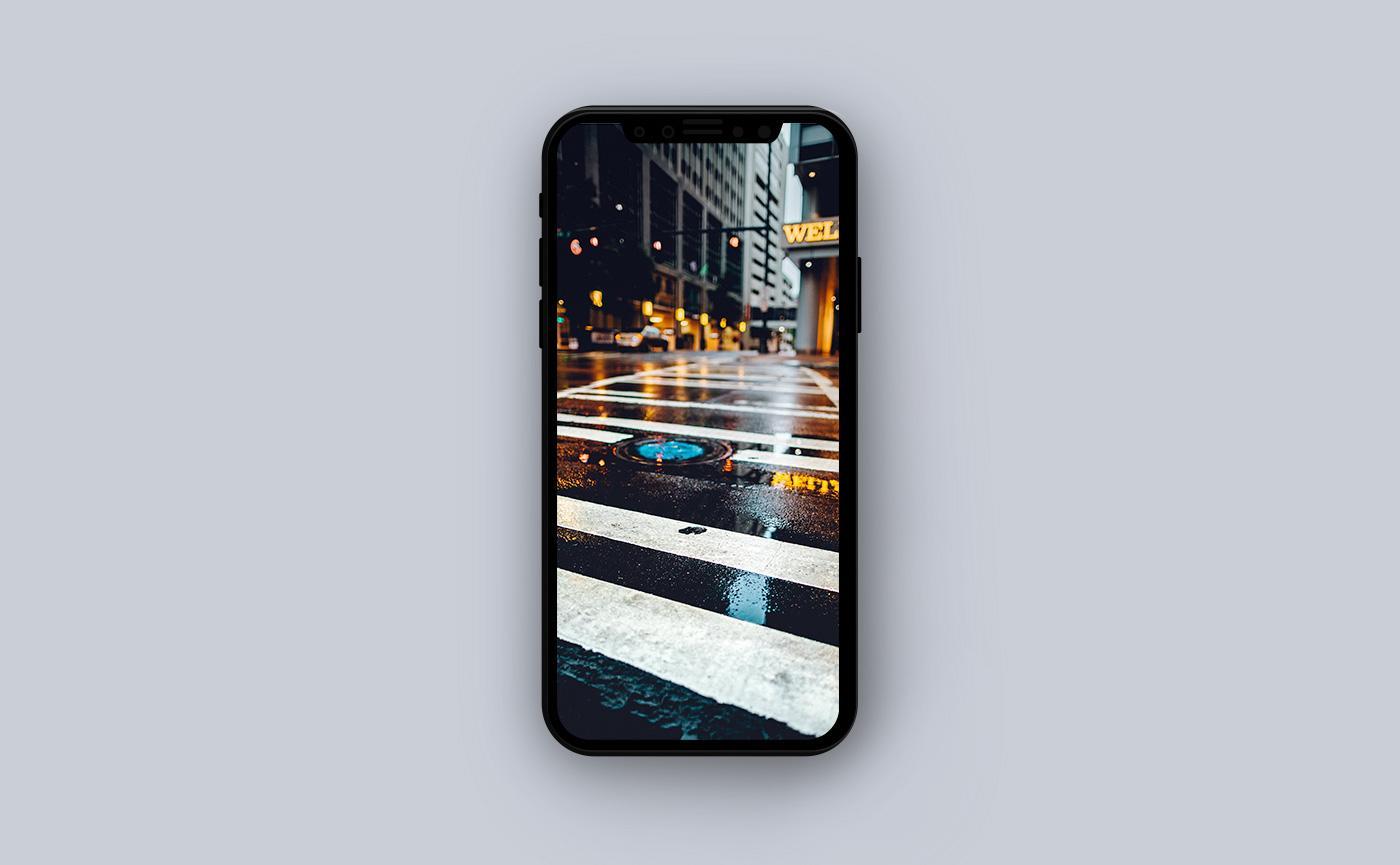 Летние обои для iPhone - пешеходный переход