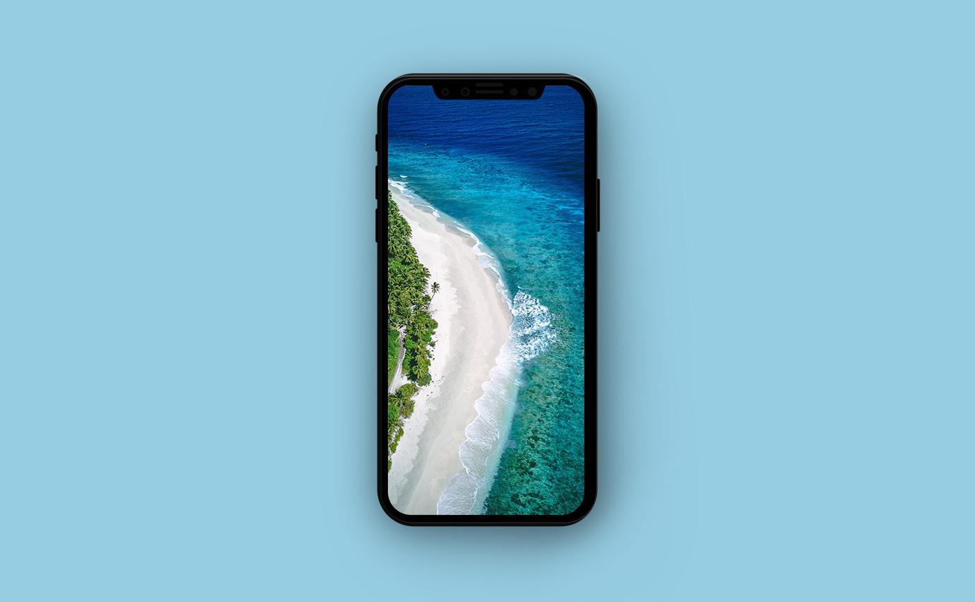 Морские обои для iPhone - остров