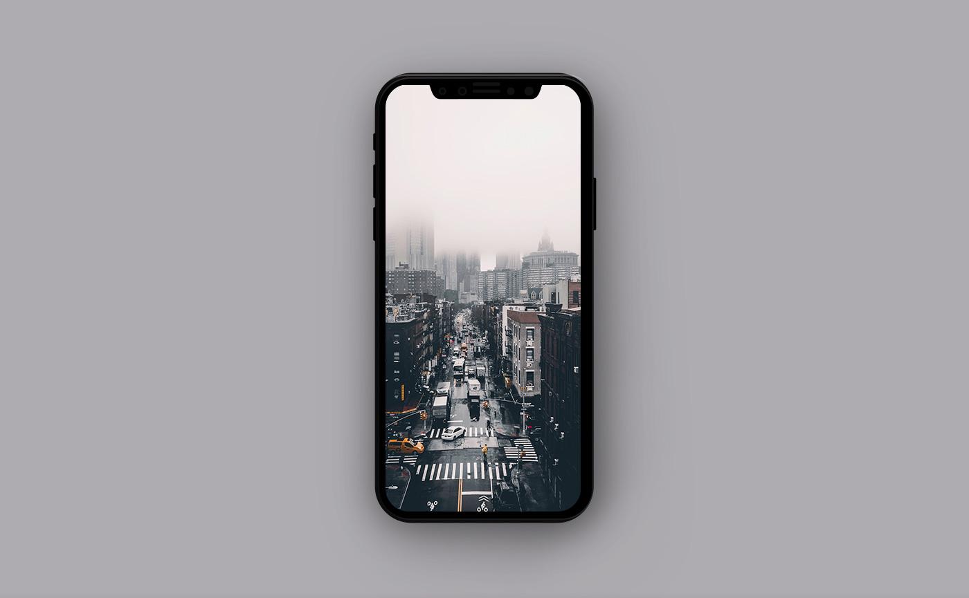 Городские обои для iPhone - городское движение