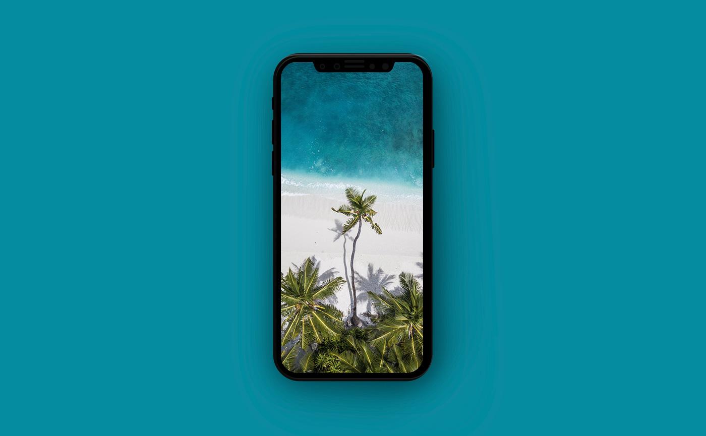Обои для iPhone Мальдивы - пляж