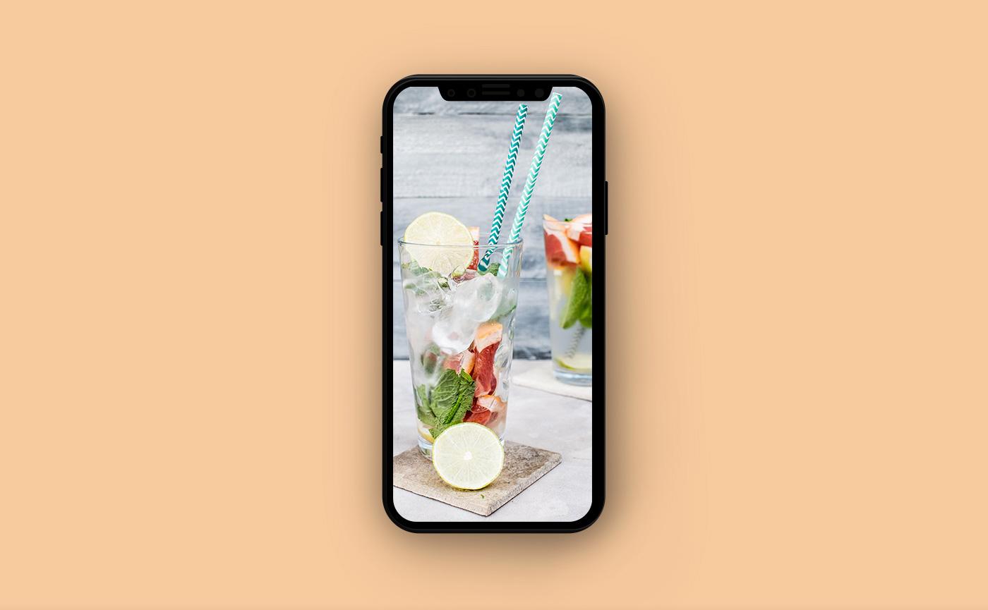 Обои на iPhone - лимонад
