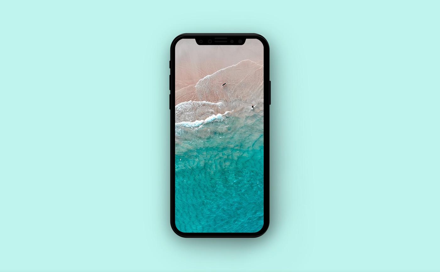 Морские обои для iPhone - голубой океан