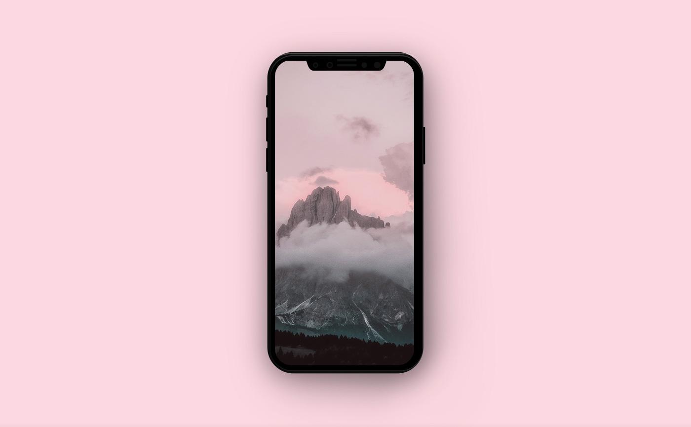 Горные обои для iPhone - горы в тумане