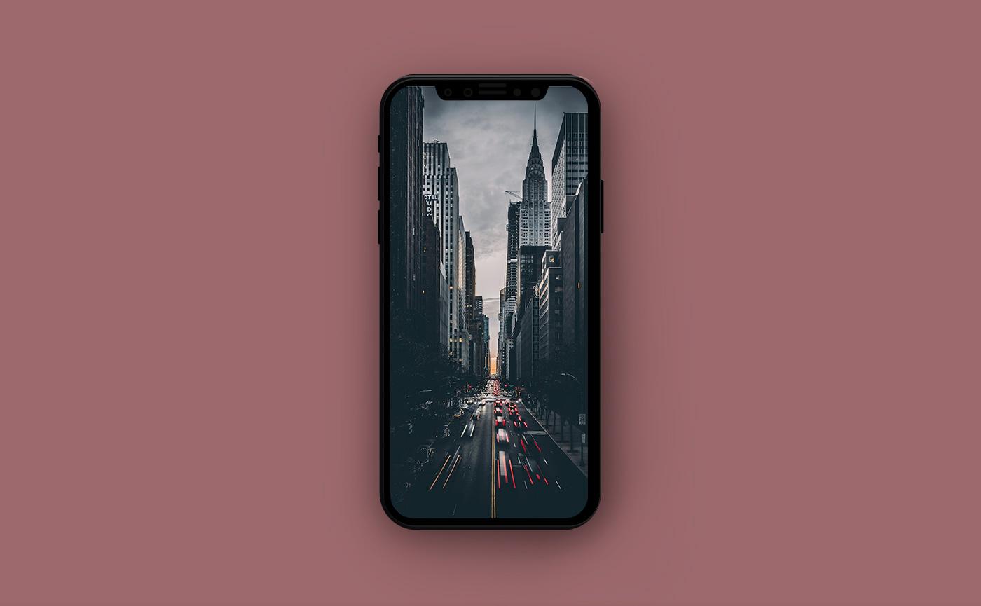 Городские обои для iPhone - улица Нью-Йорка