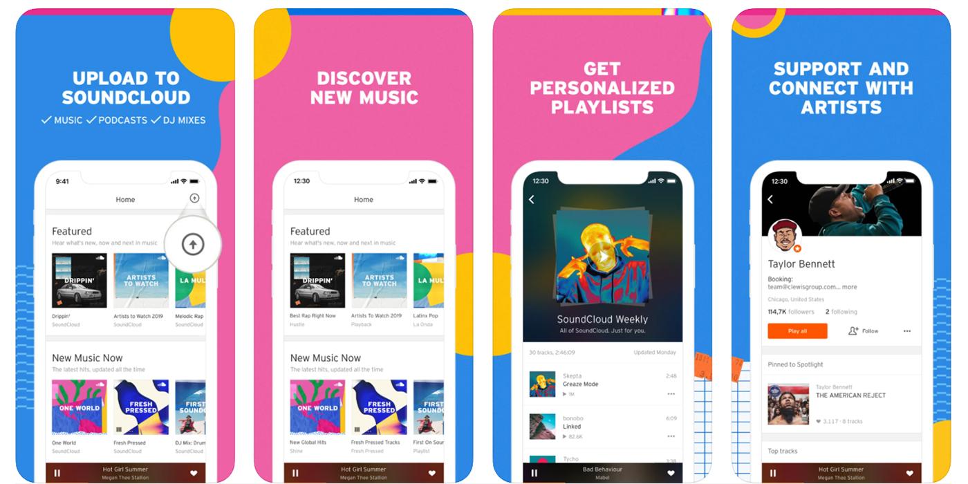 скриншот SoundCloud